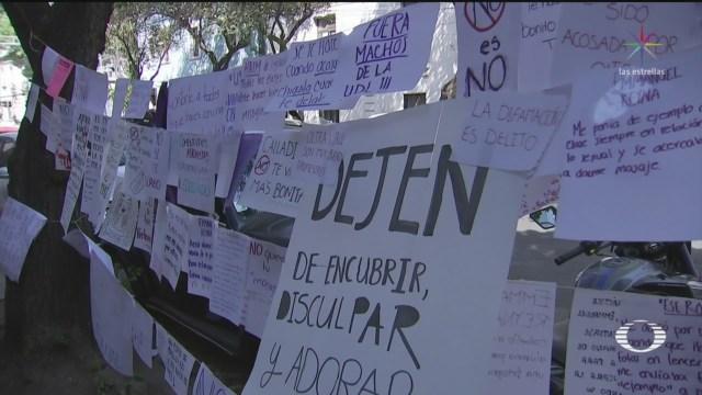 Foto: Alumnas Colocan Tendederos Denunciar Acoso Profesores 12 Marzo 2020