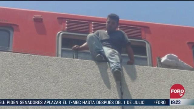 Foto: Evitan Intento Suicidio Línea 4 Metro CDMX 31 Marzo 2020