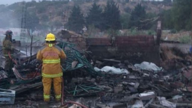 Foto: Explosión de polvorín en Tultepec deja dos muertos y cinco heridos, 14 marzo 2020