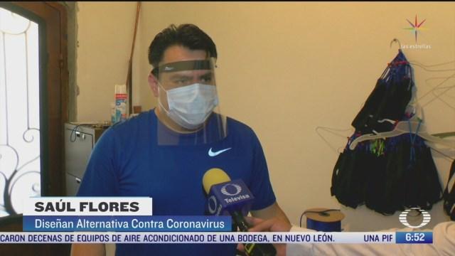 familia en nl fabrica caretas contra coronavirus