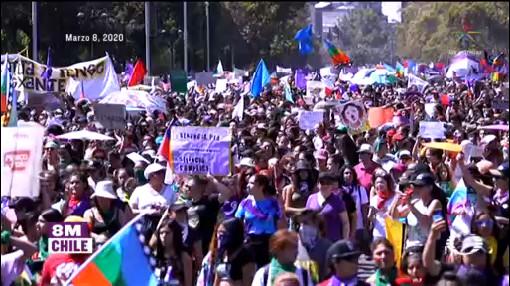 Foto: Feminismo Mundial Mujeres Marcharon Contra Violencia Género 9 Marzo 2020