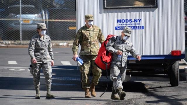 Foto: La Guardia Nacional de EEUU patrulla las calles de Nueva York. Getty Images