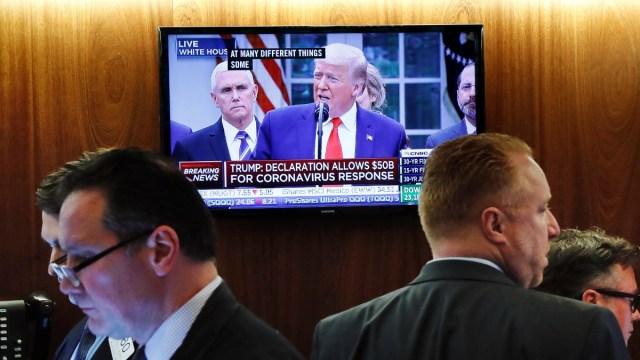 Foto: El presidente Donald Trump en conferencia de prensa. Reuters