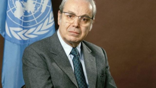 Foto: Javier Pérez de Cuellar, exsecretario general de la ONU. ONU