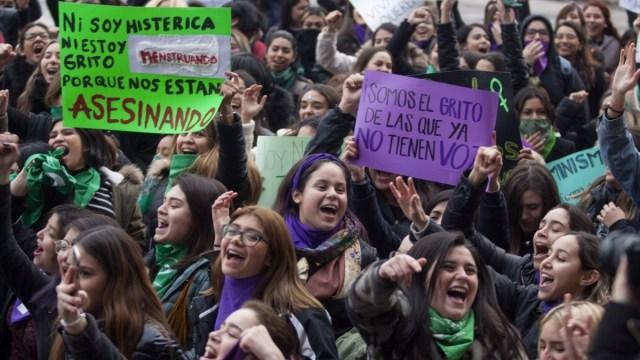 Foto: Mujeres protesta contra la violencia de género en México. Cuartoscuro