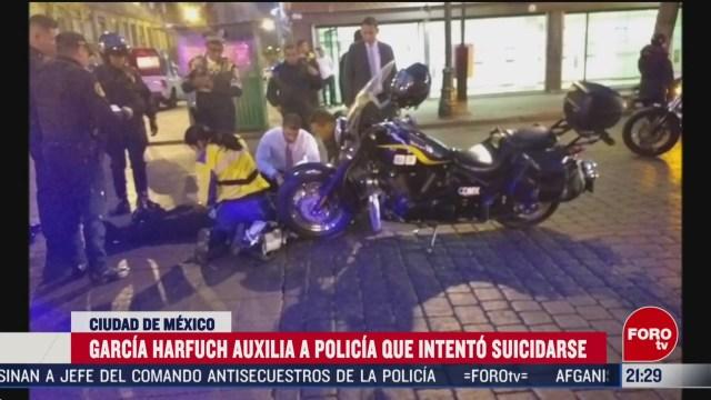 Foto: Policía Cdmx Intentó Suicidarse García Harfuch Auxilia 5 Marzo 2020