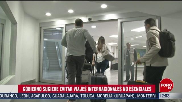 FOTO: 16 marzo 2020, gobierno de mexico pide a ciudadanos evitar viajes internacionales no esenciales