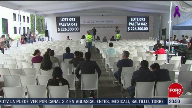 Foto: Subasta Gobierno Federal Recauda Más 53 Mdp 9 Marzo 2020