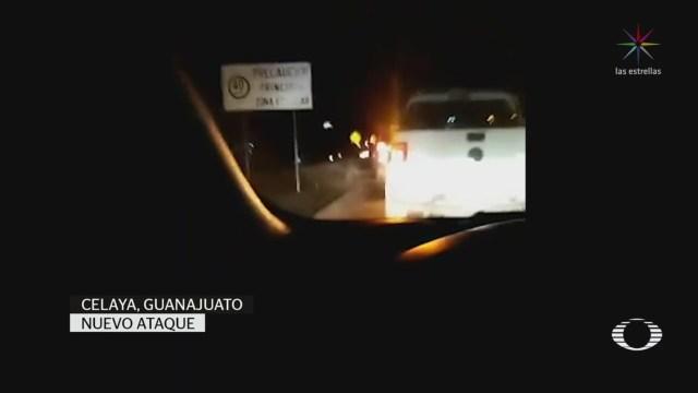 Foto: Hombres Armados Atacan Policías Celaya Guanajuato 12 Marzo 2020