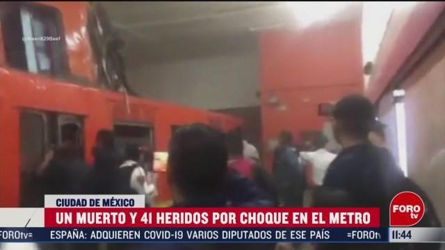 identifican a victima del choque de trenes en el metro tacubaya