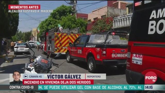 FOTO: incendio de vivienda deja dos heridos en cdmx