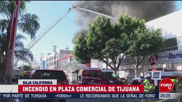 Foto: Incendio Plaza Comercial Tijuana Baja California Hoy 4 Marzo 2020
