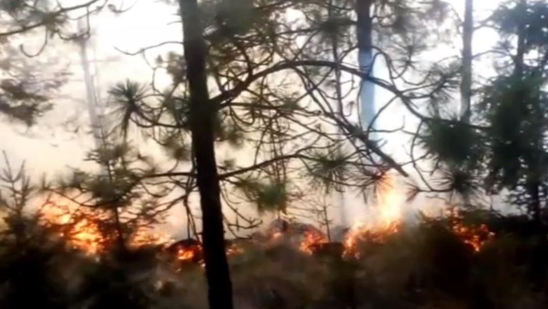 FOTO: Incendios forestales consumen hectáreas de pastizales y arbustos en Puebla, el 29 de marzo de 2020