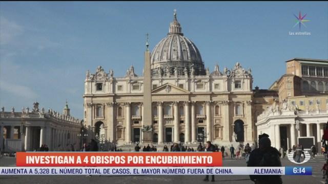 investigan en mexico a 4 obispos por encubrir casos de pederastia