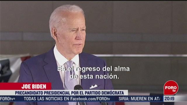 Foto: Joe Biden Más Cerca Candidatura Presidencial Estados Unidos 11 Marzo 2020