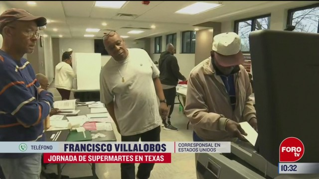 FOTO: jornada de supermartes en texas