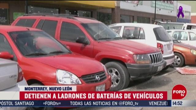 FOTO: ladron de baterias es sorprendido por victima y es detenido