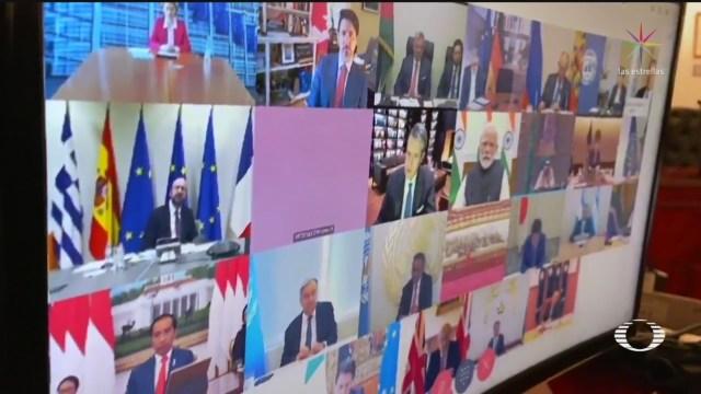 Foto: Coronavirus Líderes G20 Reúnen Virtualmente Abordar Medidas COVID 26 Marzo 2020