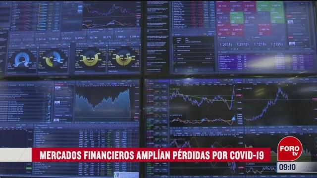 FOTO: 16 marzo 2020, FOROtv mercados financieros amplian perdidas por covid