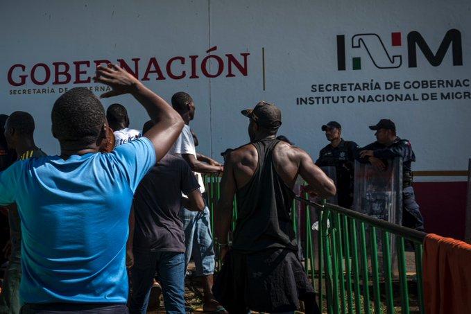 Migrantes se amotinan en Estación Migratoria de Tapachula, Chiapas. FOTO David de la Paz