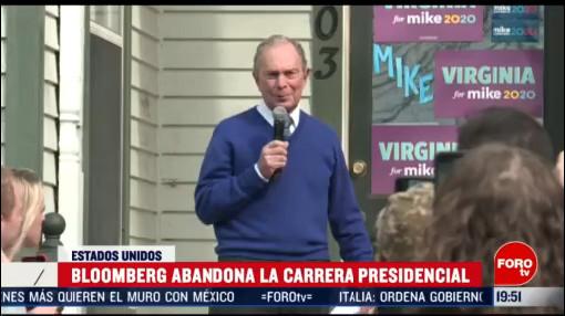 Foto: Mike Bloomberg Abandona Carrera Presidencial Apoyo Joe Biden 4 Marzo 2020