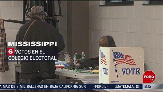 FOTO: mississippi otorga 6 votos en el colegio electoral