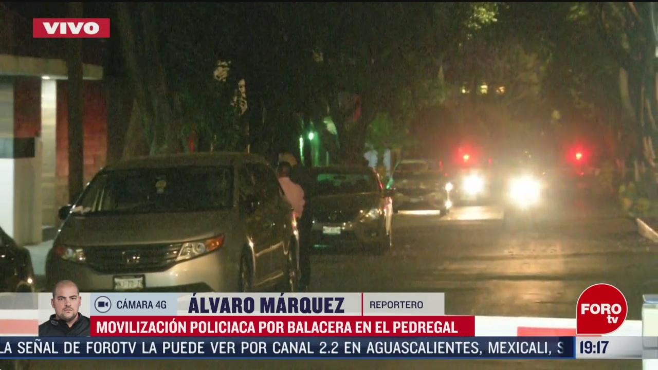 Foto: Balacera Pedregal Cdmx Movilización Policiaca Hoy 18 Marzo 2020