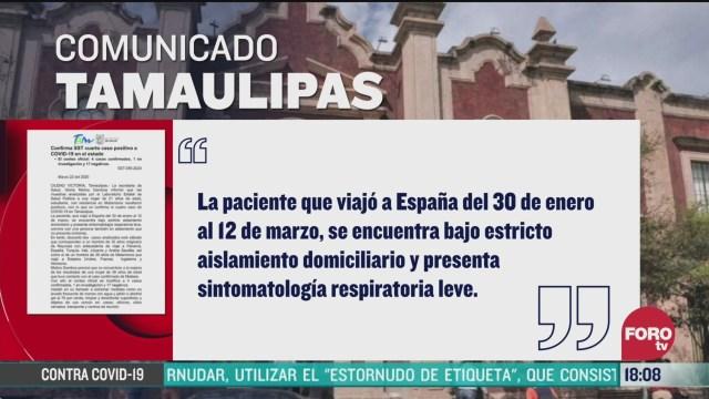 FOTO: 22 marzo 2020, mujer de 21 anos da positivo por coronavirus en tamaulipas