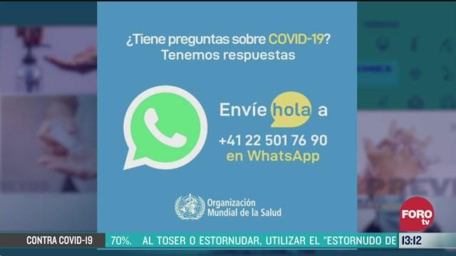 oms activa servicio de mensajeria en espanol por coronavirus