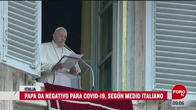 papa francisco da negativo en prueba de coronavirus