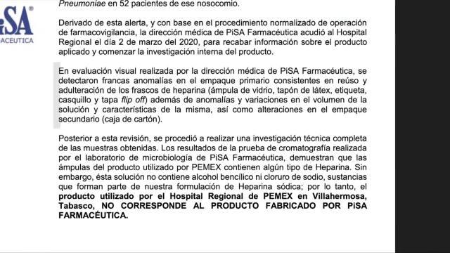 Foto: pemex compro medicamento contaminado a presunto ingeniero industrial y no a farmaceutica