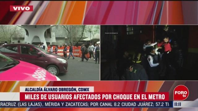 policias cdmx apoyan movilidad en metro chapultepec por usuarios afectados tras choque de trenes