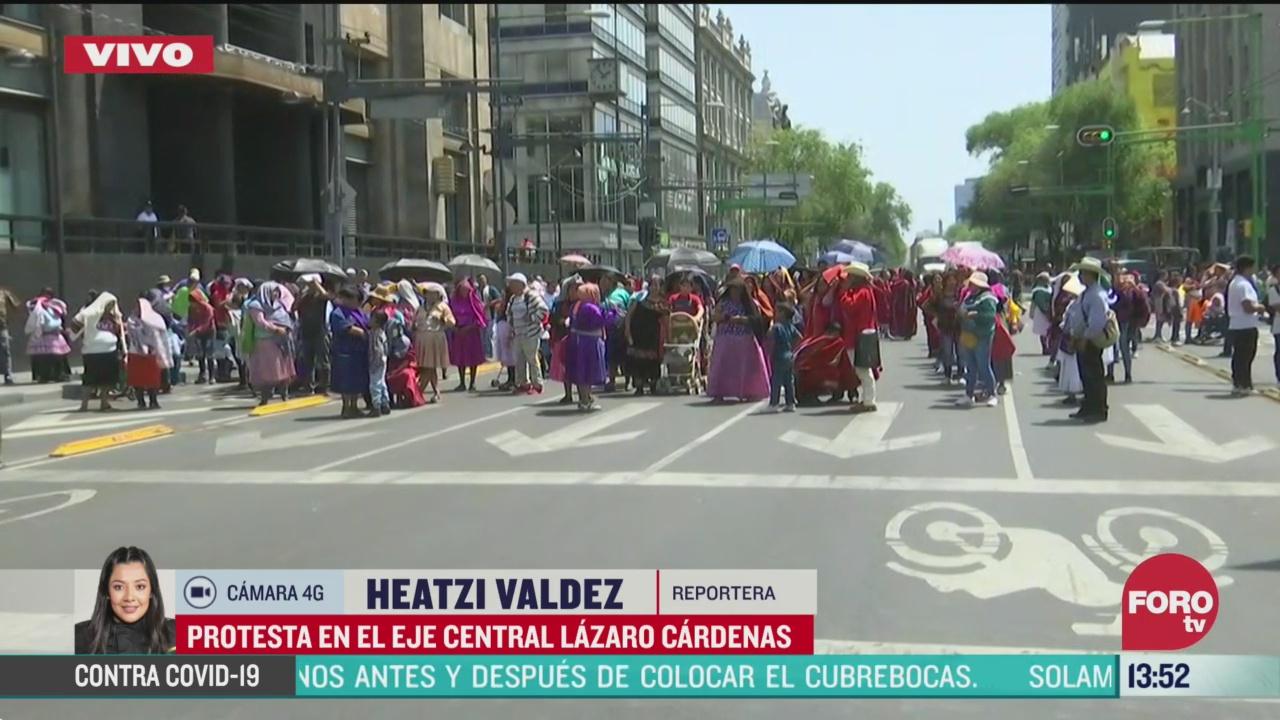 FOTO: protestan en el eje central lazaro cardenas