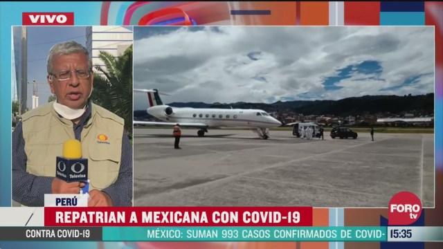 FOTO: repatrian a mexicana con coronavirus en peru