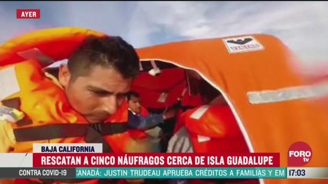 FOTO: 28 marzo 2020, rescatan a cinco naufragos cerca de isla guadalupe en ensenada