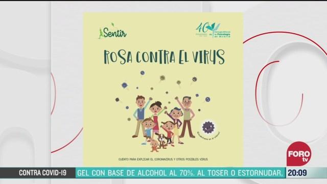 Foto: Coronavirus Rosa Contra El Virus Cuento Explicar COVID-19 23 Marzo 2020