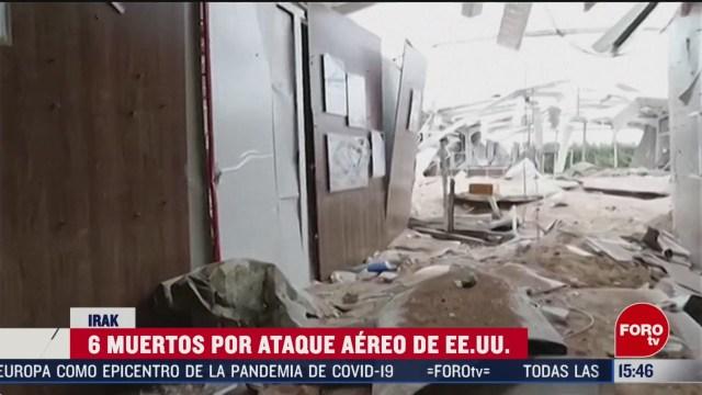FOTO: seis muertos deja ataque aereo de eeuu en irak