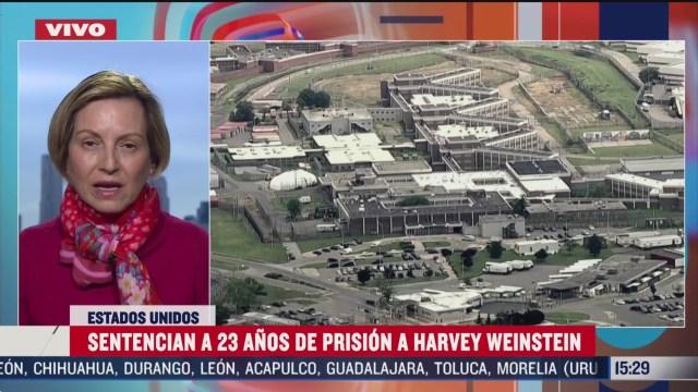 FOTO: sentencian a 23 anos de prision a harvey weinstein