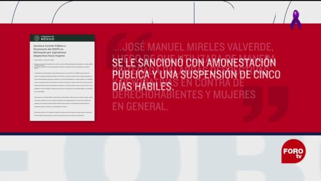 Foto: Sfp Suspende Mireles Insultar Mujeres 2019 9 Marzo 2020