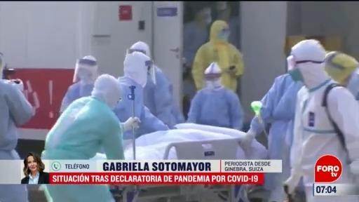 situacion tras declaratoria de pandemia por covid
