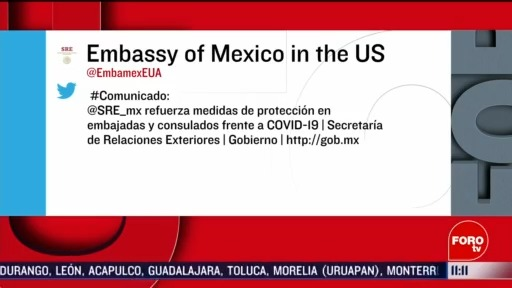sre refuerza medidas en embajadas y consulados por coronavirus