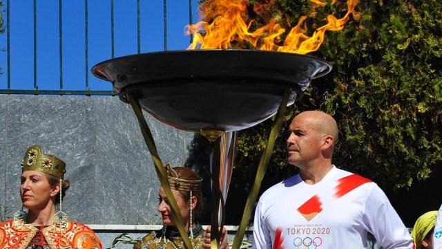 Foto: Suspenden relevo de antorcha olímpica en Grecia por coronavirus