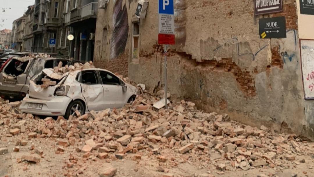 Inusual y fuerte sismo sacude Zagreb, capital de Croacia