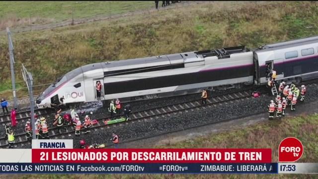 FOTO: tren se descarrila en francia y deja 21 lesionados
