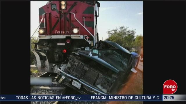 Foto: Choque Camioneta Tren Hidalgo Nuevo León Muertos 9 Marzo 2020