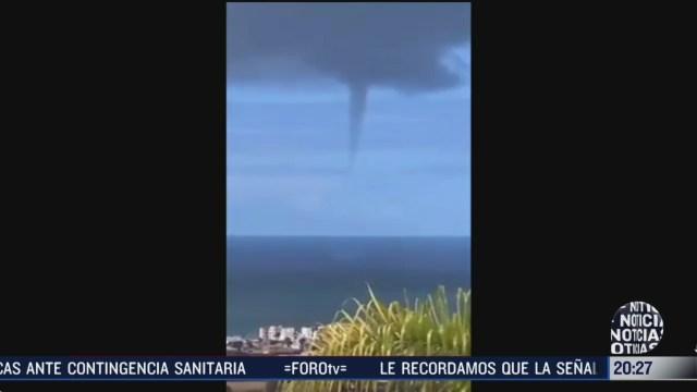 Foto: Video Tromba Marina Sorprende Habitantes Playas Tijuana 19 Marzo 2020