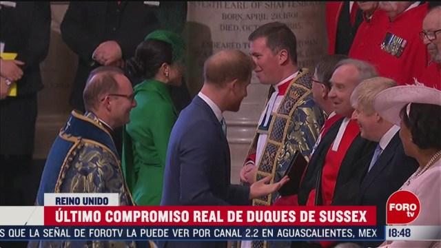 FOTO: ultimo compromiso real de duques de sussex en reino unido