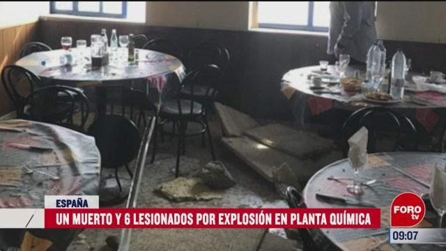 un muerto y 6 lesionados por explosion en planta quimica en barcelona espana