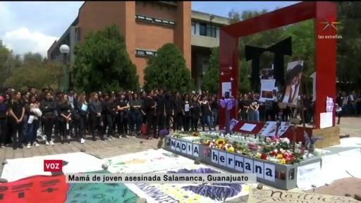 Foto: Universidad Iberoamericana Homenaje Estudiante Asesinada Salamanca Guanajuato 10 Marzo 2020