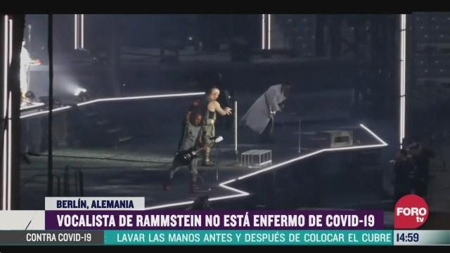 FOTO: vocalista de rammstein no tiene coronavirus